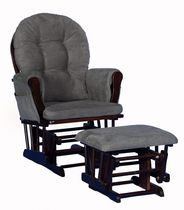 Storkcraft Comfort Glider and Ottoman Gray