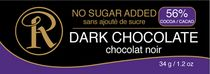 Ross Chocolates No Sugar Added Cocoa Dark Chocolate Bar