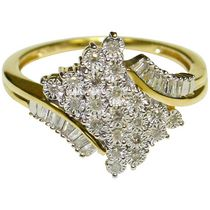 .25 Carat T.W Star Cluster Ring in  Diamond 10KT Yellow Gold 7