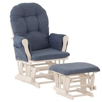 Storkcraft Comfort Glider and Ottoman White