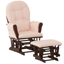 Storkcraft Comfort Glider and Ottoman Pink