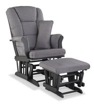 Storkcraft Premium Glider and Ottoman Grey Swirl