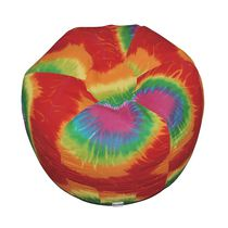Boscoman Red Rainbow Tie-dye Beanbag Chair