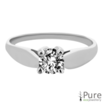 0.20 ct - Round Brilliant Diamond Solitaire Ring 6