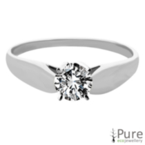 0.20 ct - Round Brilliant Diamond Solitaire Ring White Gold 6.5