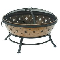 "Sunjoy Calista 35"" Steel Fire Pit"