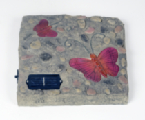 2 Pack Solar Butterfly Stepping Stone