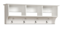 Entryway Cubbie Shelf White