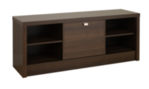 Series 9 Designer Cubbie Bench with Door Espresso