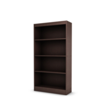 South Shore Smart Basics 4-Shelf Bookcase Chocolate