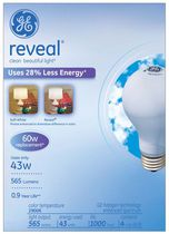 GE reveal® 43 Watts 4 Bulbs Pack - 60 Watt Replacement