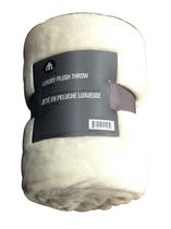 hometrends Luxury Royal Plush Throw - Cream