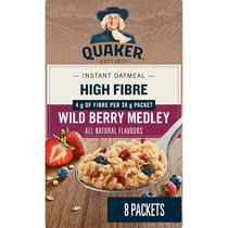 Quaker Wildberry Medley High Fibre Instant Oatmeal