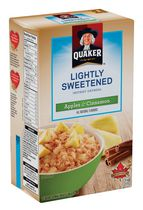Quaker Lighlty Sweetened Apples & Cinnamon Instant Oatmeal