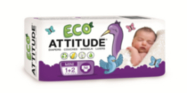 ATTITUDE Eco-Friendly Diapers (Choose Your Size) Size 1