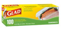 Glad® Fold Lock Top Sandwich Bags - 100 Count