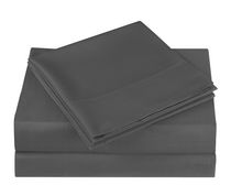 Mainstays Microfiber Solid Sheet Set Grey Queen