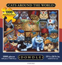 Americana Art Cats Around the World Jigsaw Puzzle