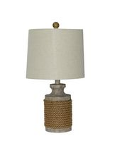 Home Trends Rustic Rope Table Lamp