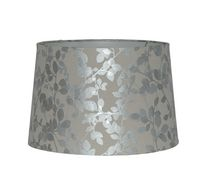 "Home Trends 15"" Metallic Foil Leaf Print Lamp Shade"