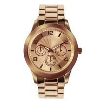 Fashion Watches Women's Rose Gold Tone Boyfriend Watch