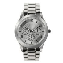 Fashion Watches Women's Silver Tone Boyfriend Watch
