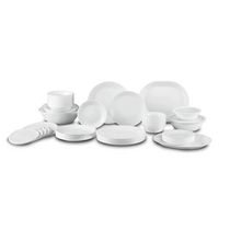 Corelle Livingware Winter Frost White Dinnerware Set