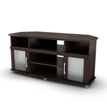 South Shore City Life Corner TV Stand, for TVs up to 50 inches Chocolate