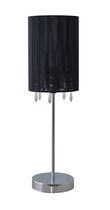"Home Trends 18.5"" Black Ribbon Wrapped Accent Lamp"