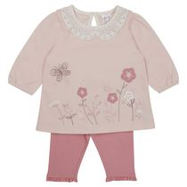 George British Design Baby Girls' Lace Collar Top & Leggings 12-18 months