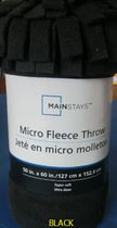 Mainstays Micro Fleece throw Black