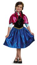 Disney Girls' Frozen Classic Anna Costume S