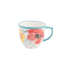 The Pioneer Woman Flea Market 16 oz. Bloom Dots Turquoise Decorated Mug