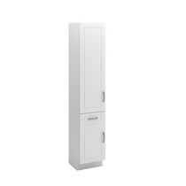 "Fabritec 15""x78"" Tall Linen Cabinet in White"