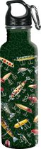 River's Edge 24 oz Antique Lure Stainless Steel Water Bottle