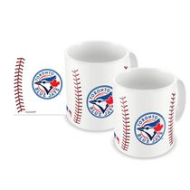 Ensemble de tasses blancs en céramique de 11 oz de baseball sublimé des Blue Jays de Toronto