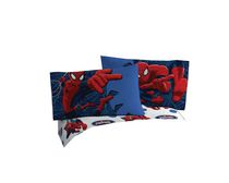 Mon-Tex Mills Standard Size Blue Spiderman Pillowcase