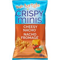 Quaker Crispy Minis Cheesy Nacho Tortilla Style Rice Chips