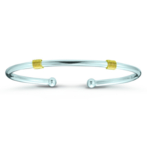 Sterling Silver and 14K Yellow Gold Bracelet