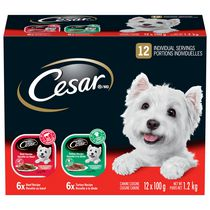 Cesar Entrees 6x with Turkey & 6x with Beef  Food for Small Dogs