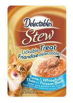 Delectables Stew Lickable Cat Treat - Tuna & Whitefish 40gm