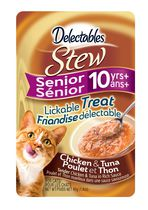 Delectables Stew Senior 10yrs+ Lickable Cat Treat - Chicken & Tuna 40gm