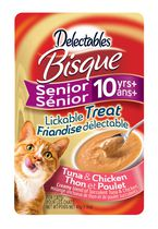 Delectables Bisque Senior 10 yrs+ Lickable Cat Treat - Tuna & Chicken  40gm