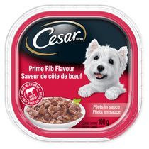 Cesar Slices Prime Rib Flavour Food for Small Dogs