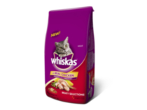 Whiskas Real Salmon Dry Adult Meaty Selections for Cat 4kg