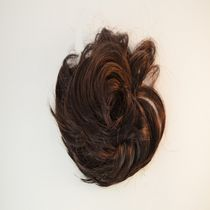 Fashion Hair Short Straight Scrunchie Dark Brown