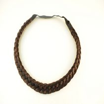 Fashion Hair Braided Hair Band Dark Brown