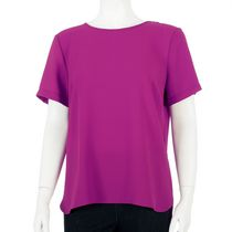 George Women's Short Sleeve Buckle Tee Purple L/G