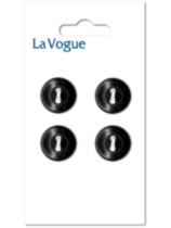 La Vogue 14 mm 2-Hole Button - Black