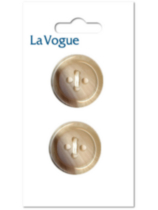 La Vogue 25 mm 4-Hole Button - Light Beige